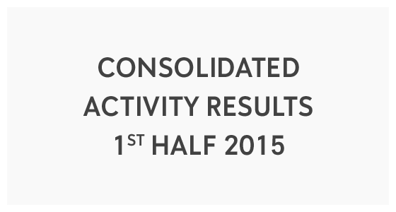 Consolidated Activity Results - 1st Half 2015 (PDF)