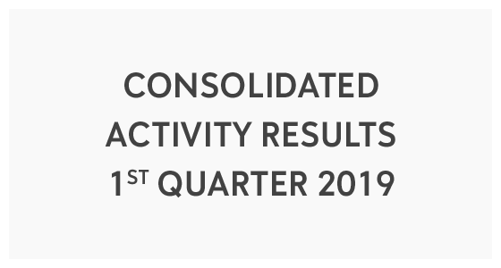 Consolidated Activity Results - 1st Quarter 2019 (PDF)