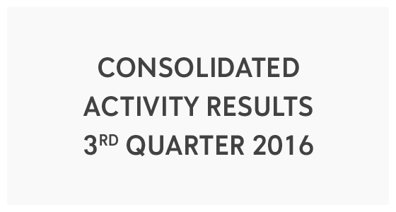Consolidated Activity Results 3rd Quarter 2016 (PDF)