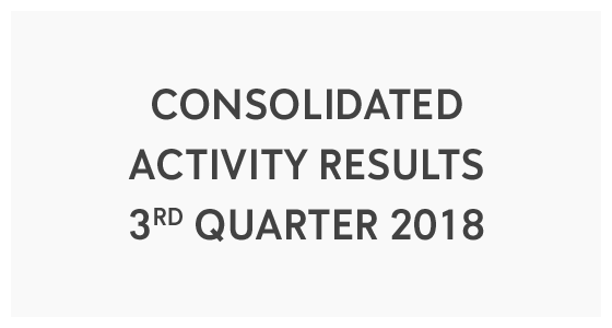 Consolidated Activity Results 3rd Quarter 2018 (PDF)