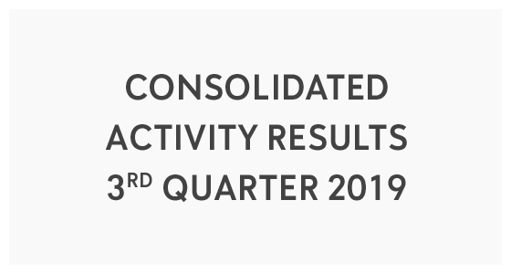Consolidated Activity Results 3rd Quarter 2019 (PDF)